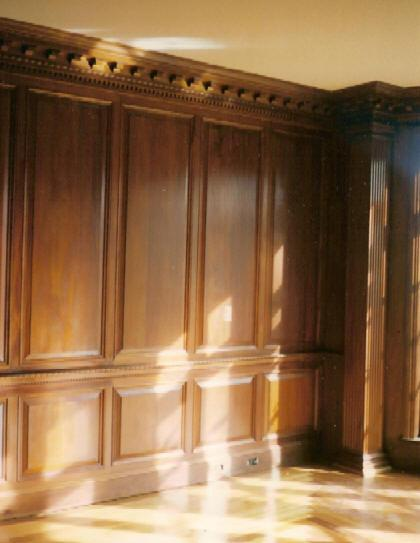 Paneled Library - Architectural Custom Woodwork VA